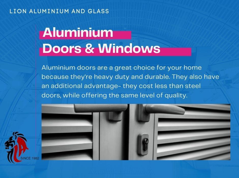 Aluminium doors fixing near me