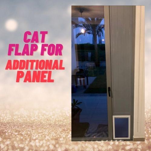 Cat flap installation in additional panel in dubai